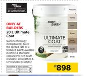Fired Earth Ultimate Coat-20Ltr