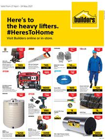 Builders Botswana : Here's To Heavy Lifters (27 April - 24 May 2021)