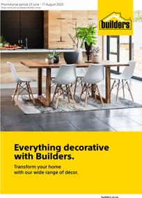 Builders : Everything Decorative With Builders (23 June - 17 August 2020)