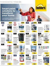 Builders : Smart Paint Solutions To Transform Your Home (21 July - 19 October 2020)