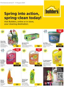 Builders : Spring Into Action, Spring-Clean Today! (4 August - 31 August 2020)