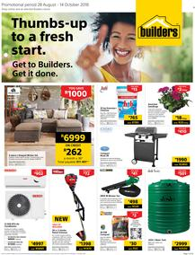 Builders Eastern Cape : Thumbs-Up To A Fresh Start (28 Aug - 14 Oct 2018)