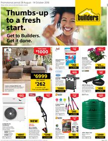Builders Inland : Thumbs-Up To A Fresh Start (28 Aug - 14 Oct 2018)