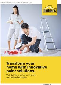 Builders : Transform Your Home With Innovative Paint Solutions (20 October - 28 December 2020)