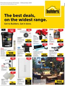 Builders Western Cape : The Best Deals On The Widest Range (23 Oct - 18 Nov 2018)