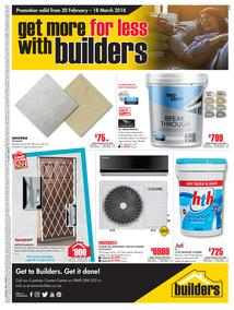 Builders Inland : Get More For Less (20 Feb - 18 Mar 2018), page 1