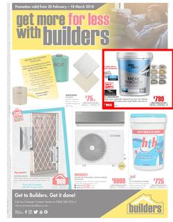 Builders Western Cape & PE : Get More For Less With Builders (20 Feb - 18 Mar 2018), page 1
