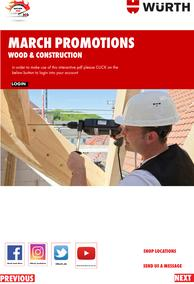 WURTH : Wood & Construction (01 March - 31 March 2021)