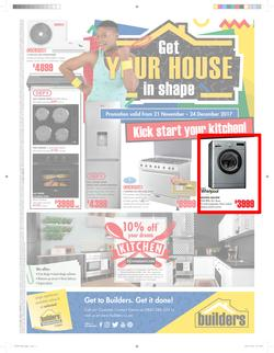 Builders : Appliance Catalogue (21 Nov - 24 Dec 2017), page 1