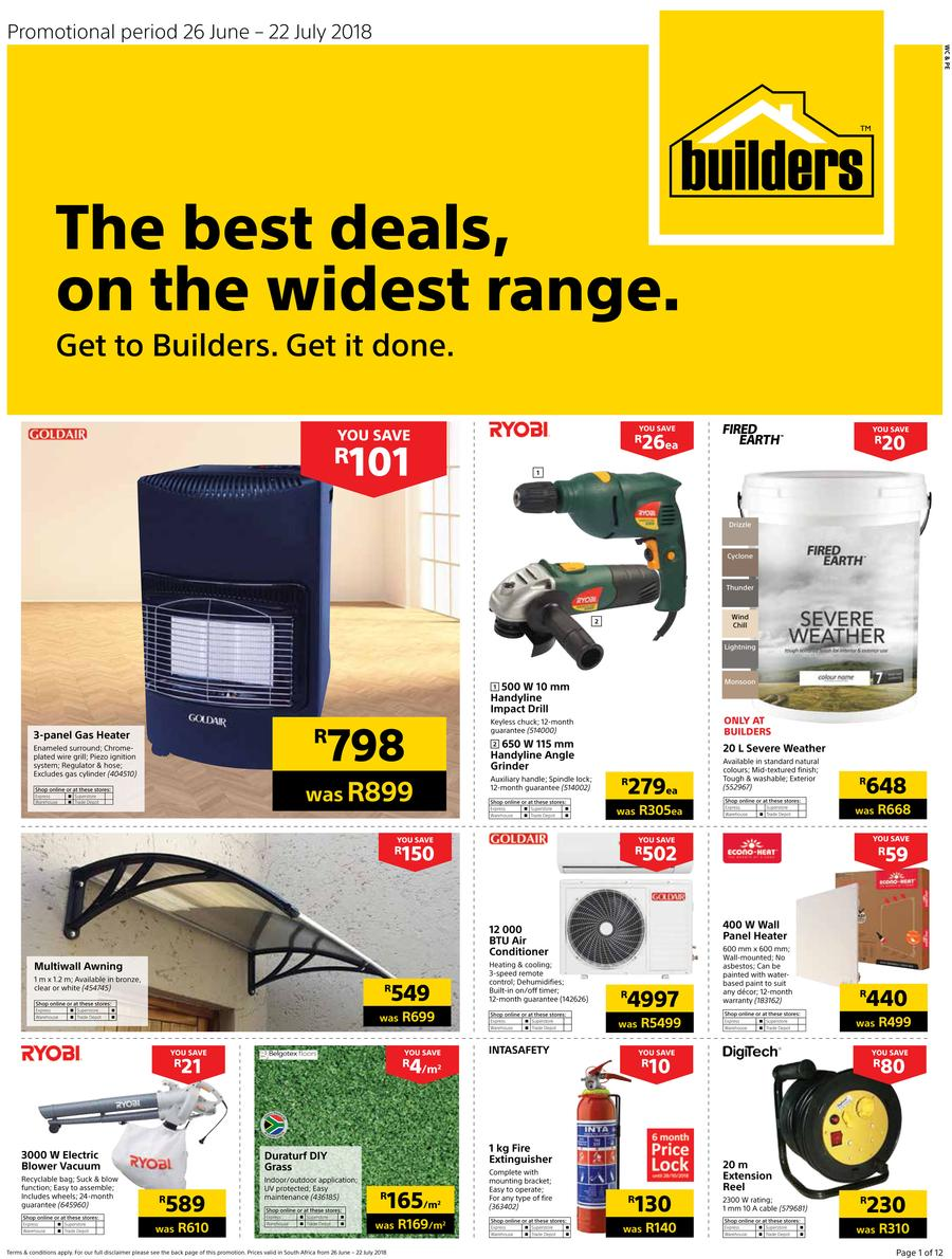 Builders WC & PE : The Best Deals On The Widest Range (26 June - 22 July 2018)