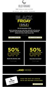Old Khaki : Black Friday Sale (23 Nov - 25 Nov 2018)