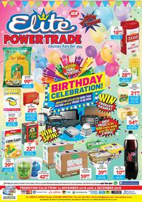 Elite Cash And Carry : Birthday Celebration (14 Nov - 02 Dec 2018)