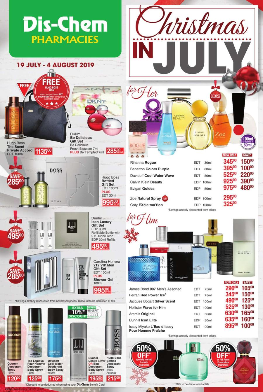 Christmas Specials 2019.Dis Chem Christmas In July 19 Jul 04 Aug 2019 Www