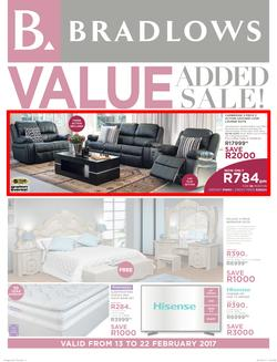 Bradlows : Value Added Sale (13 Feb - 22 Feb 2017), page 1