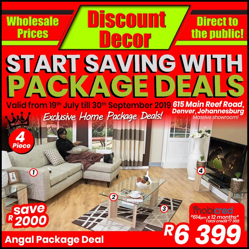 Discount Decor : Start Saving With Package Deals (19 July - 30 Sept 2019)