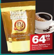 Douwe Egberts Pure Gold Instant Coffee Refill Pouch 150g