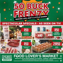 Food Lovers Market Western Cape : 50 Buck Frenzy (26 Aug - 1 Sept 2019)