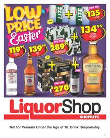 Shoprite Gauteng, Mpumalanga, North West & Limpopo : Liquor Shop (24 March - 13 April 2020)