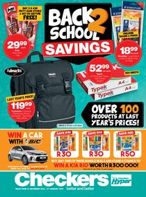 Checkers : Back To School Promotion (31 Dec - 27 Jan 2019)