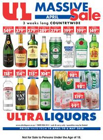 Ultra Liquors : Massive April Sale (14 Apr - 06 May 2019)
