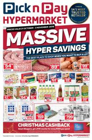 Pick n Pay Hyper Western Cape : Savings (21 Oct - 03 Nov 2019)