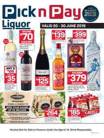 Pick n Pay : Liquor Savings (20 Jun - 30 Jun 2019)