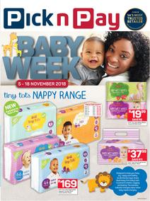Pick n Pay : Baby Week Savings (05 Nov - 18 Nov 2018)