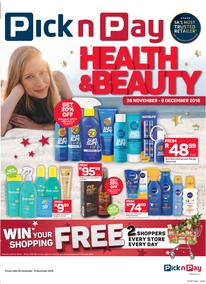 Pick n Pay : Health & Beauty Savings (26 Nov - 09 Dec 2018)