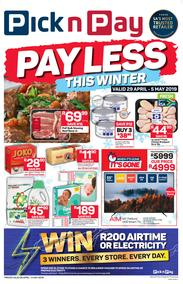 Pick n Pay  Western Cape : Pay Less This Winter (29 Apr - 05 May 2019)
