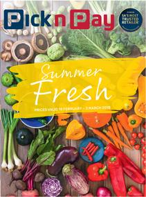Pick n Pay : Summer Fresh (18 Feb - 03 Mar 2019)