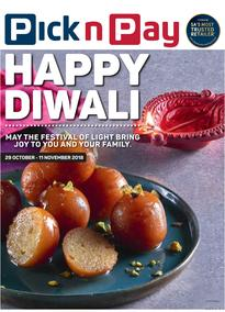 Pick n Pay Western Cape  : Happy Diwali (29 Oct - 04 Nov 2018)