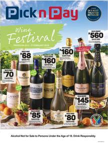 Pick n Pay : Wine Festival (04 Feb - 17 Feb 2019)