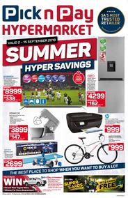 Pick n Pay Hyper : Summer Savings (02 Sep - 15 Sep 2019)