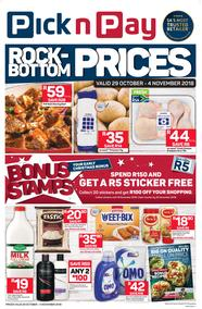 Pick n Pay Western Cape : Rock-Bottom Prices (29 Oct - 04 Nov 2018)