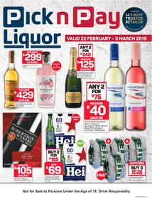 Pick n Pay : Liquor Store Deals (22 Feb - 03 Mar 2019)