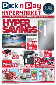 Pick n Pay Hyper : Savings (05 Nov - 18 Nov 2018)