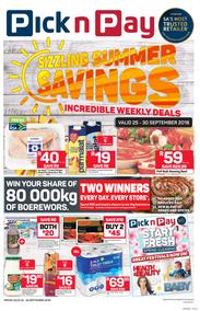 Pick n Pay Western Cape : Sizzling Summer Savings (25 Sep - 30 Sep 2018)