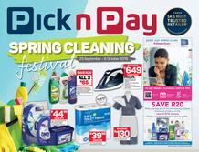 Pick n Pay : Spring Cleaning (23 Sep - 06 Oct 2019)