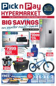 Pick n Pay Hyper : Big Savings On Winter Must Haves (18 Jun - 23 Jun 2019)