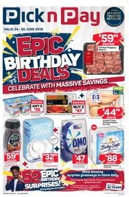Pick n Pay Western Cape : Epic Birthday Deals (24 Jun - 30 Jun 2019)