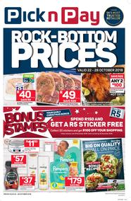 Pick n Pay Western Cape : Rock-Bottom Prices (22 Oct - 28 Oct 2018)