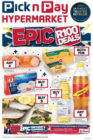 Pick n Pay Hyper Western Cape : Epic Birthday R100 Deals (24 Jun - 07 Jul 2019)