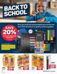 Pick n Pay : Back To School (08 Jul - 21 Jul 2019)