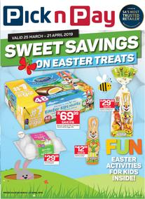 Pick n Pay : Sweet Easter Treats (25 Mar - 21 Apr 2019)