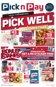 Pick n Pay Western Cape : Pick Well This Christmas (05 Nov - 11 Nov 2018)