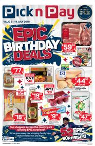Pick n Pay Western Cape : Epic Birthday Deals (08 Jul - 14 Jul 2019)