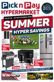 Pick n Pay Hyper : Summer Savings (16 Sep - 22 Sep 2019)