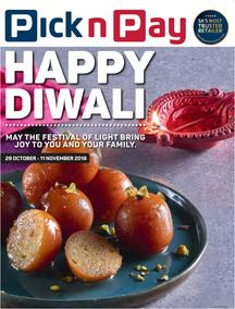 Pick n Pay Western Cape  : Happy Diwali (29 Oct - 11 Nov 2018)