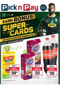 Pick n Pay : Earn Bonus Rugby Super Cards (02 Sep - 22 Sep 2019)