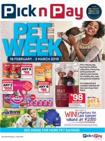 Pick n Pay : Pet Week (18 Feb - 03 Mar 2019)